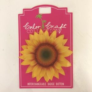 Color Craft SUNFLOWER Interchangeable ID badge Top